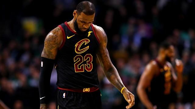 A potential historic day for LeBron James turned into a brutal home loss for the Cleveland Cavaliers. (Getty)