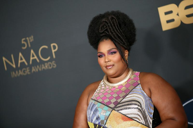 Lizzo has accused Tik Tok of taking down videos she posts of herself in bathing suits (Photo by Tommaso Boddi/FilmMagic)