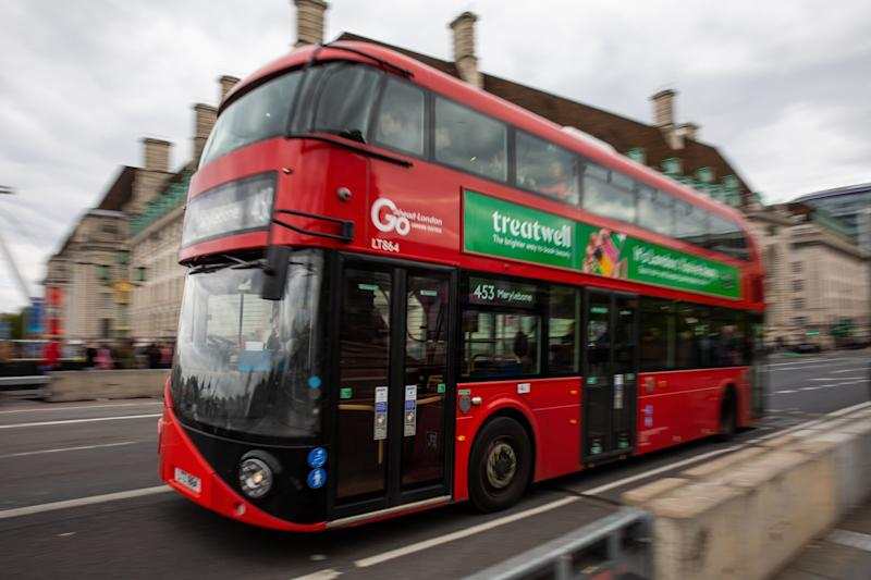 The women were attacked on the top deck of a London bus (Photo by Manuel Romano/NurPhoto via Getty Images)