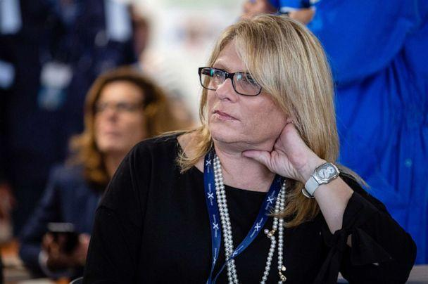 PHOTO: Lisa Lutoff-Perlo, chief executive officer of Celebrity Cruises Inc., listens during a presentation aboard the Celebrity Edge cruise ship, during a press tour in Saint Nazaire, France, Sept. 12, 2018. (Bloomberg via Getty Images, FILE)