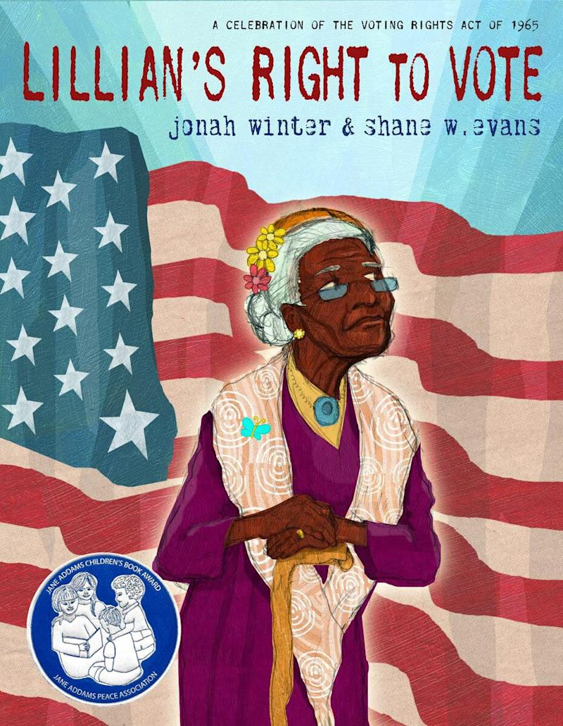 """Inspired by Lillian Allen, who voted for Barack Obama in 2008 at the age of 100, this book illustrates the history of voting for Black Americans. <i>(Available <a href=""""https://www.amazon.com/Lillians-Right-Vote-Celebration-Voting/dp/0385390289"""" target=""""_blank"""" rel=""""noopener noreferrer"""">here</a>)</i>"""