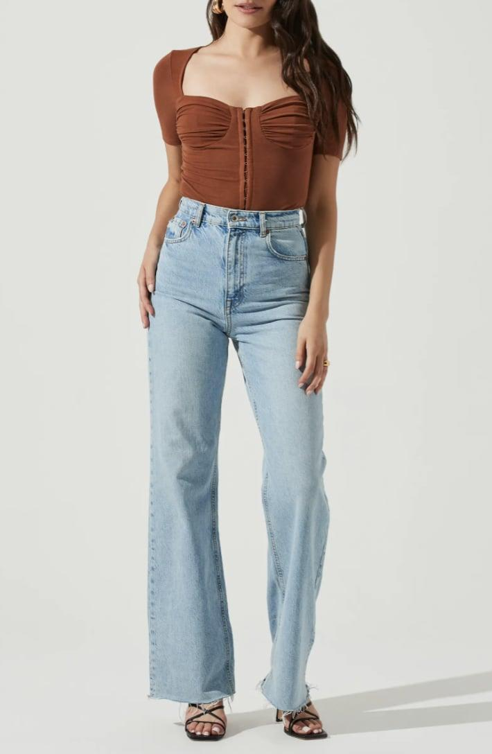 <p>This <span>ASTR the Label Hook and Eye Bodysuit</span> ($59) will stylishly transition from brunch to happy hour, thanks to the semi-dressy fabric plus fitted bodice. It's flattering and polished.</p>