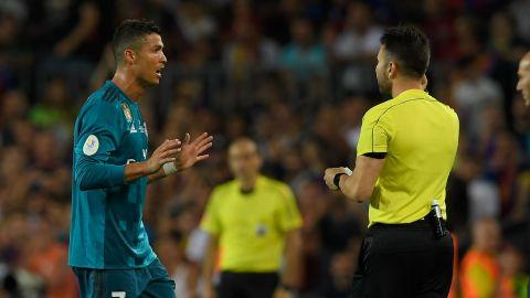 Cristiano Ronaldo gets five-game ban after pushing referee — Real Madrid