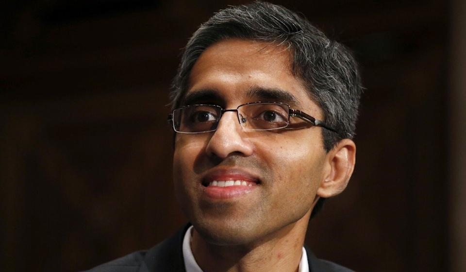 Dr Vivek Murthy on Capitol Hill in Washington in 2014. Photo: AP