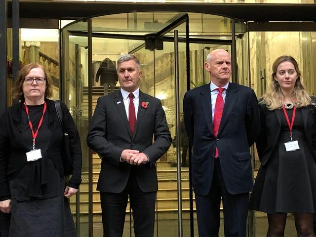 Dr Richard Freeman, second left, and Mary O'Rourke QC, left