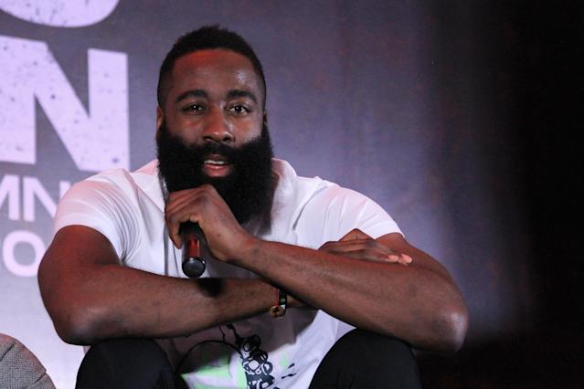 James Harden recently visited Manila to promote his latest shoe, the Adidas Harden 5. (Getty Images)