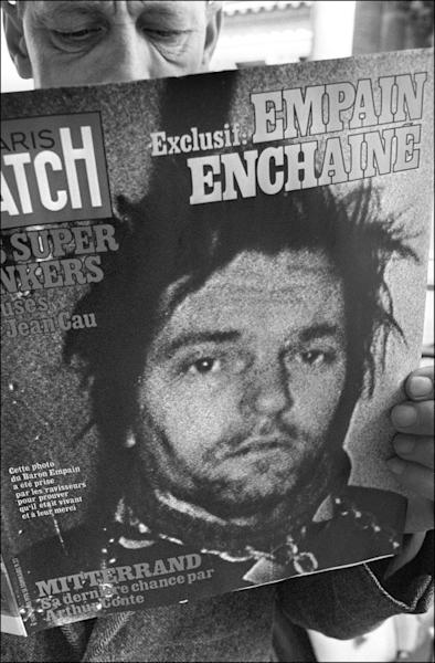 A portrait of Empain taken by his abductors made the front page of Paris Match in April 1978