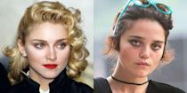 <p>The Queen of Pop and up-and-coming artist Sky Ferreira owe it to their short, sleek jawline for looking so similar. They have pretty similar brows, too.</p>