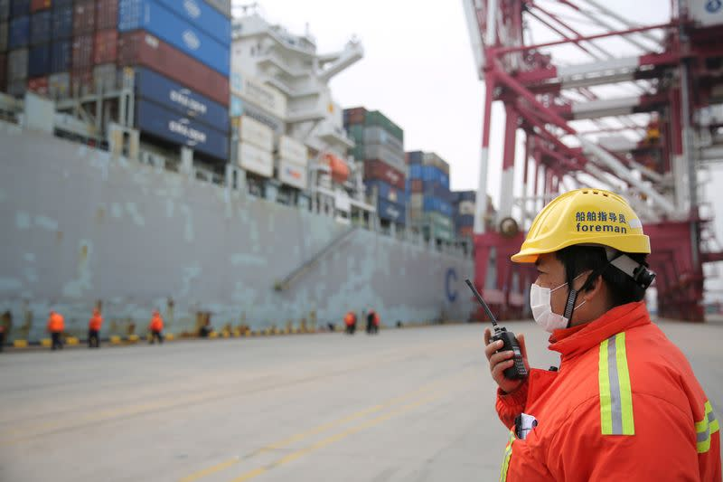 China's top container ports unclog backlog as virus curbs ease