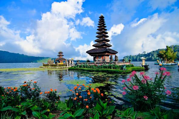 Bali, Indonesia: Taman Ayun Temple.  Bali is cheap holiday destination for Brits