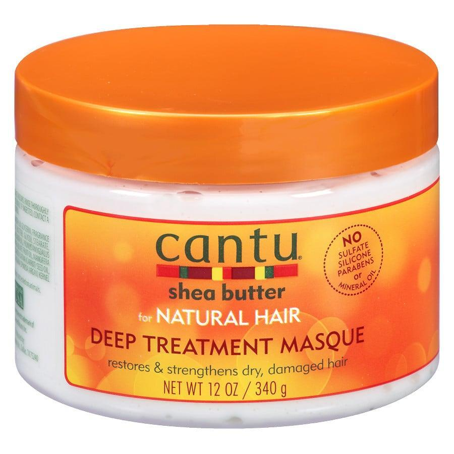 """<p>The <span>Cantu Shea Butter Deep Treatment Hair Masque</span> ($6) is a product that works for a wide range of curl types, and with a price under $10, it's definitely worth a spot in your beauty cupboard. This top-rated formula is rich in all our favorite coil-loving oils, like coconut, avocado, sweet almond, jojoba, olive, argan, neem, carrot, macadamia, and mango, plus honeysuckle, aloe leaf juice, nettle, and silk amino acids. """"This mask definitely contains the most luxe mix of oils, and the fact that it's specifically formulated for natural hair means I'm already sold,"""" said Kia.</p>"""