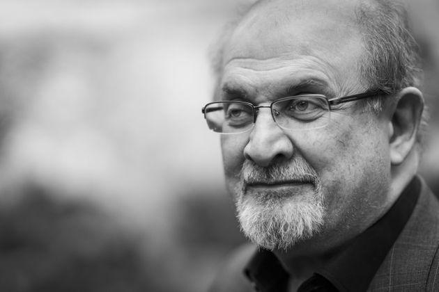 CHELTENHAM, ENGLAND - OCTOBER 12: (EDITOR'S NOTE: Original in colour) Salman Rushdie, 2019 Booker Prize, shortlisted author, at the Cheltenham Literature Festival 2019 on October 12, 2019 in Cheltenham, England. (Photo by David Levenson/Getty Images) (Photo: David Levenson via Getty Images)