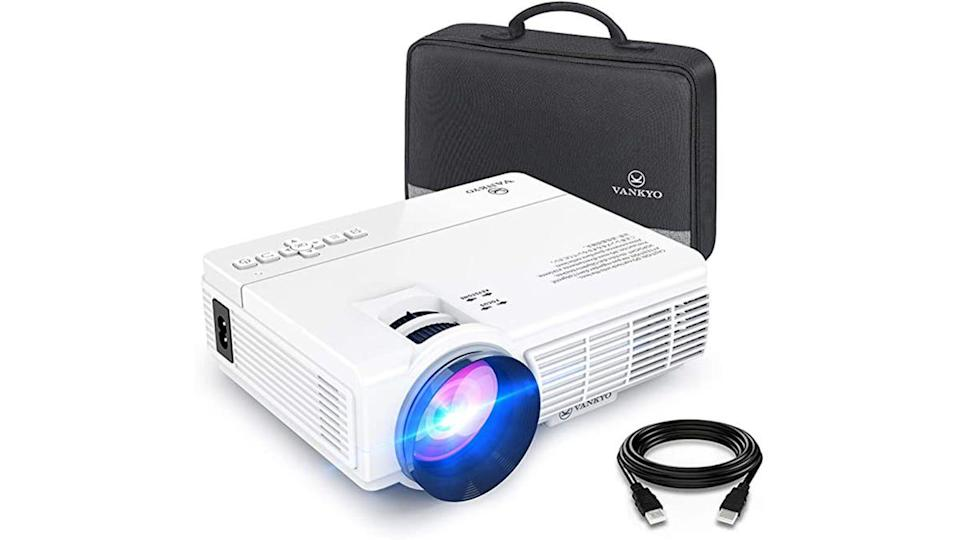 Amplify your Super Bowl viewing experience with a projector.