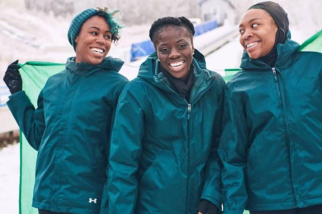 The inspiring women of the Nigerian bobsled team. (Instagram/@seun_msamazing)