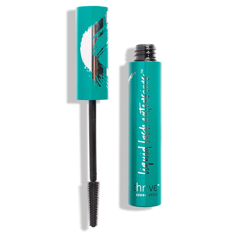 """I was captivated by a somewhat viral Facebook video of a woman applying coats of mascara to her blond lashes, only to have them instantly double in size. Every time she blinks into the brush, her lashes get longer and darker, without getting clumpy. I have never clicked on a <a href=""""https://thrivecausemetics.com/products/liquid-lash-extensions-mascara"""" target=""""_blank"""">product link</a> so fast. When I saw it was called <a href=""""https://thrivecausemetics.com/products/liquid-lash-extensions-mascara"""" target=""""_blank"""">Liquid Lash Extensions</a>, I was already sold, but then my eyes flickered over to the numbers: 7,569 reviews with 6,005 (and counting) of them being five stars. My results weren't as dramatic as the video, but I was still totally impressed. It really separates my lashes, making it appear that I'm blessed with more than I actually have. I wouldn't say it doubled my lashes in length, but it definitely got close. It's super inky-black, and doesn't flake or smudge all day, but when you want to take it off, it comes off in seconds with warm water. <em>—Bella Cacciatore, beauty associate</em> $24, Thrive Causemetics Liquid Lash Extensions Mascara. <a href=""""https://thrivecausemetics.com/products/liquid-lash-extensions-mascara"""">Get it now!</a>"""