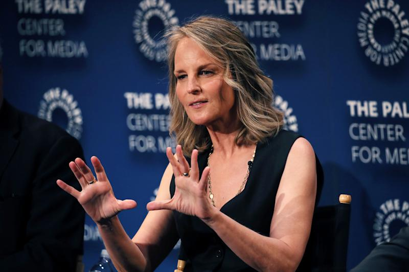 "BEVERLY HILLS, CALIFORNIA - SEPTEMBER 07: Helen Hunt of ""Mad About You"" speaks onstage at The Paley Center for Media's 2019 PaleyFest Fall TV Previews - Spectrum at The Paley Center for Media on September 07, 2019 in Beverly Hills, California. (Photo by David Livingston/Getty Images)"