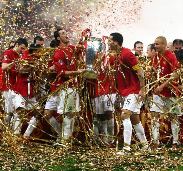 Cristiano Ronaldo won the Champions League with United in 2008