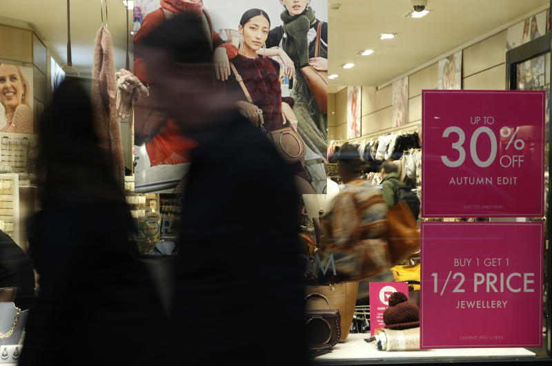 British retail sales slip amid household income squeeze