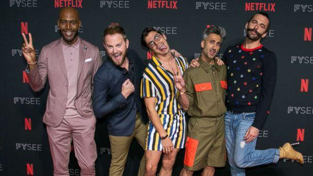 PHOTO: Karamo Brown, Bobby Berk, Antoni Porowski, Tan France and Jonathan Van Ness attend a Netflix event at Raleigh Studios on May 31, 2018 in Los Angeles. (Gabriel Olsen/FilmMagic/Getty Images)
