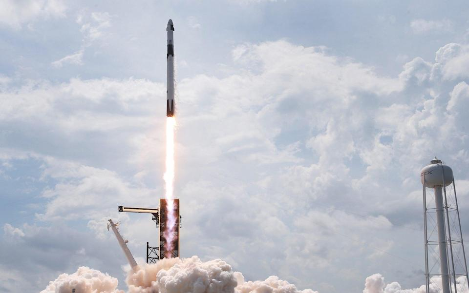 SpaceX Falcon-9 Rocket And Crew Dragon Capsule Launches From Cape Canaveral Sending Astronauts To The International Space Station - Joe Raedle/Getty Images North America
