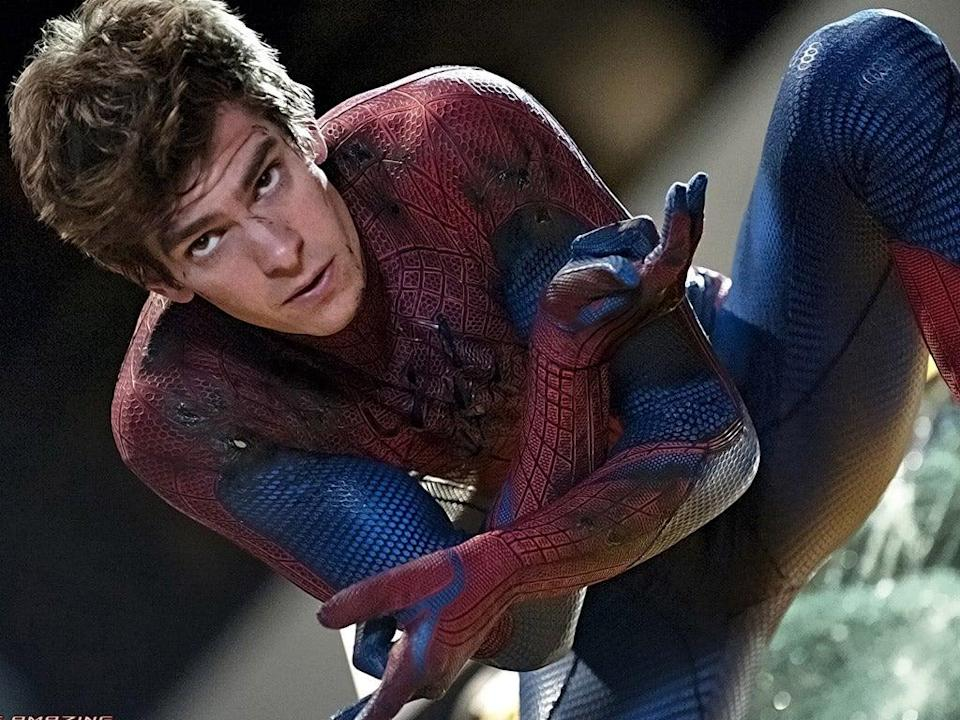 <p>Andrew Garfield as Spider-Man</p> (Sony)