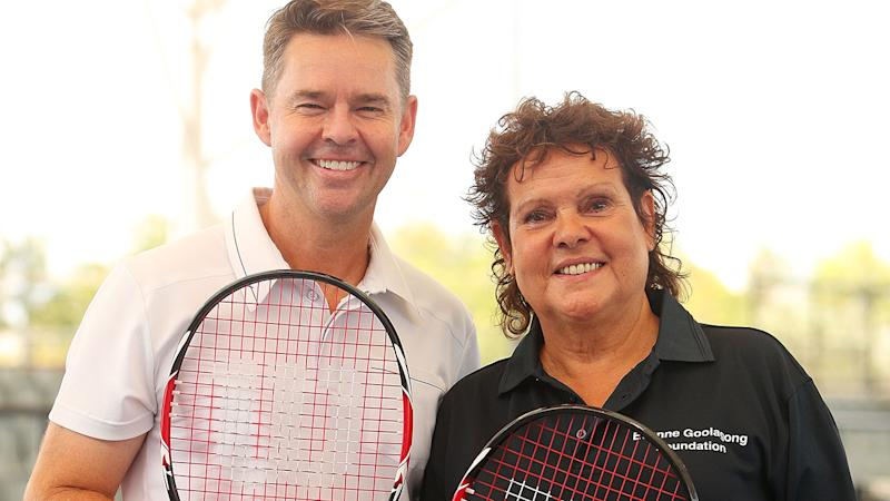 Todd Woodbridge, pictured here with Evonne Goolagong Cawley in 2018.
