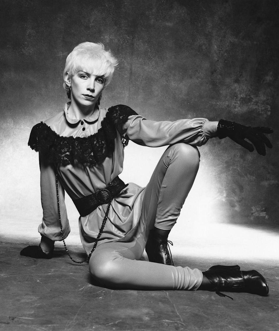 <p>Although the singer was successful in the late 1970s, her star took off in the 1980s when she formed the synthpop duo <em>The Eurythmics</em>. The group's hit <em>Sweet Dreams </em>hit No. 1 in the U.S. She became an icon for her unmistakable voice and her androgynous style.</p>