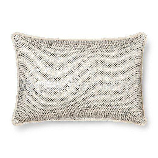 "Get it <a href=""https://www.target.com/p/throw-pillow-metallic-mini-fringe-oblong-threshold-153/-/A-50980084#lnk=newtab"" target=""_blank"">here</a>."