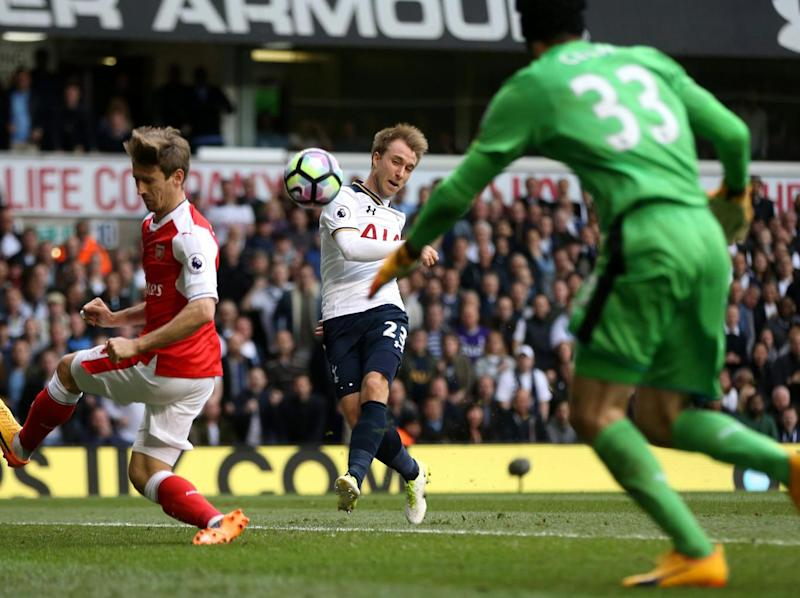 Eriksen blazed over when it was easier to score (Tottenham Hotspur FC via Getty)