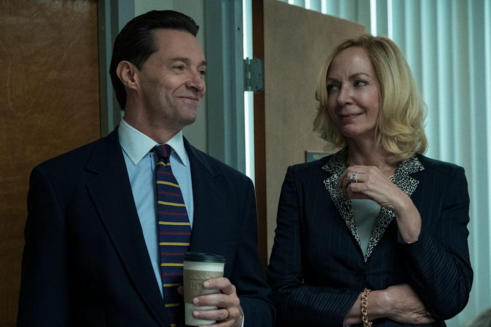 Hugh Jackman, left, and Allison Janney play Long Island school administrators hiding a lot of secrets in HBO's 'Bad Education,' which is based on a true story.