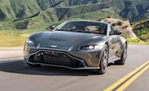 """<p>The first on the list is the <a href=""""https://www.caranddriver.com/aston-martin/vantage"""" rel=""""nofollow noopener"""" target=""""_blank"""" data-ylk=""""slk:Aston Martin Vantage"""" class=""""link rapid-noclick-resp"""">Aston Martin Vantage</a>. Although its turbocharged engines now come from Mercedes-AMG, a manufacturer that does not offer a manual transmission, Aston does offer its gorgeous """"entry-level"""" Vantage with a seven-speed manual. The track-ready AMR performance variant even gets an unconventional dog-leg-pattern shifter behind the sports car's twin-turbo 4.0-liter V-8</p>"""