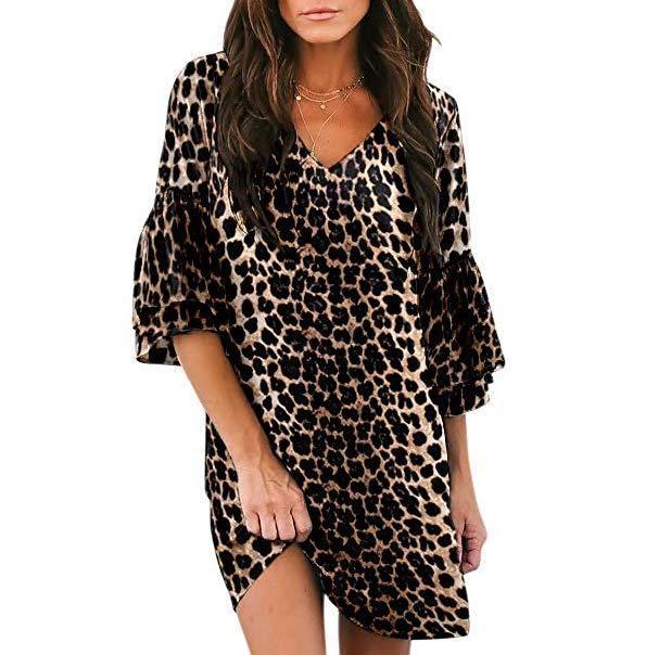 """<br><br><strong>Belong</strong> Short Bell Sleeve Dress, $, available at <a href=""""https://www.amazon.com/gp/product/B07Q43MM36/"""" rel=""""nofollow noopener"""" target=""""_blank"""" data-ylk=""""slk:Amazon"""" class=""""link rapid-noclick-resp"""">Amazon</a>"""