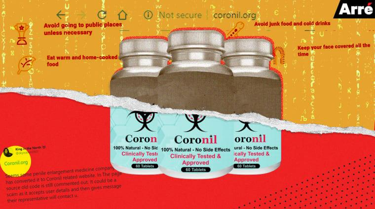 Is a Hoax Penis Enlargement Website Now Claiming to Sell Baba Ramdev's Coronil?