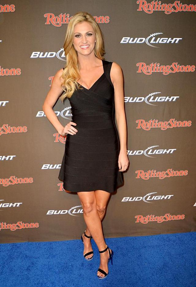 NEW ORLEANS, LA - FEBRUARY 01: TV personality Erin Andrews arrives at the Rolling Stone LIVE party held at the Bud Light Hotel on February 1, 2013 in New Orleans, Louisiana. (Photo by Gustavo Caballero/Getty Images for Rolling Stone)