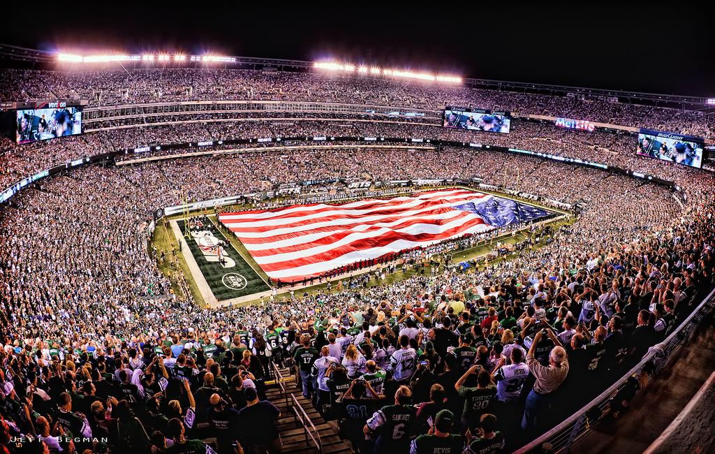 """Cowboys vs Jets - Sept 11, 2011<br><br>Dedicated to the 2,958 innocent victims of the September 11, 2001 terrorist attacks. You will never be forgotten!<br><br>By <a target=""""_blank"""" href=""""http://www.flickr.com/photos/jeffbpictures/6140359732/in/pool-1775706@N22"""">Jeff Bergman</a>, Copyright © 2011<br><br>"""