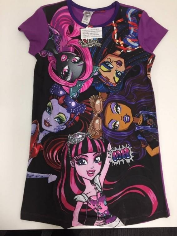 A Monster High Ghoul nightie is pictured.