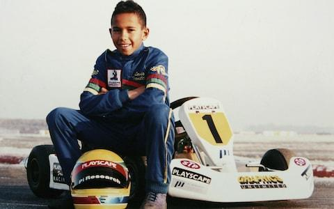 Lewis Hamilton was a champion go-karter as a child - Credit: Getty Images