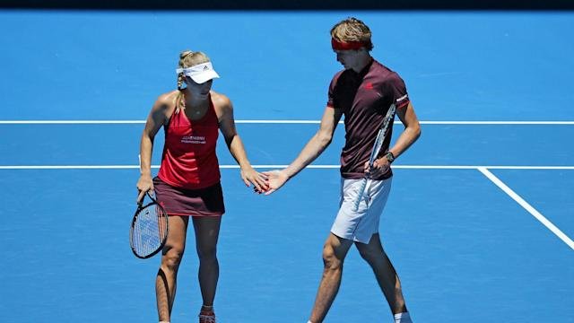 Germany are close to reaching the Hopman Cup final as Alexander Zverev and Angelique Kerber impressed against Canada.