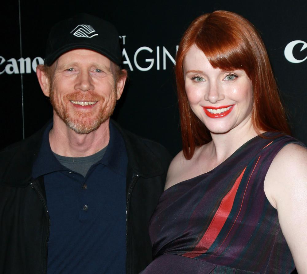 "Director Ron Howard (L) and daughter actress Bryce Dallas Howard attend a screening of ""When You Find Me"" inspired by Canon's Project Imagin8ion contest at the Ray Kurtzman Theater at CAA on November 21, 2011 in Los Angeles, California.  (Photo by David Livingston/Getty Images)"