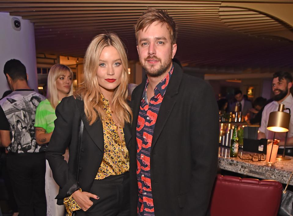 LONDON, ENGLAND - NOVEMBER 28:   Laura Whitmore and Iain Stirling attend the 20th anniversary celebration of tailor and fashion designer Gresham Blake at the Hard Rock Hotel London on November 28, 2019 in London, England.  (Photo by David M. Benett/Dave Benett/Getty Images for Hard Rock Hotel London)