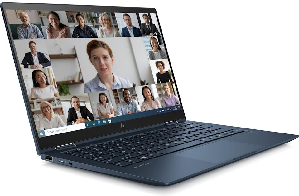 The HP Dragonfly Max offers an improved webcam and audio features designed specifically for remote work. (Image: HP)
