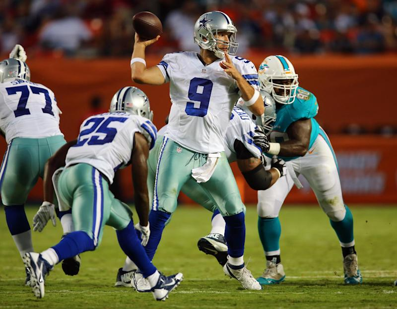Romo won't have much to build on for Dallas opener