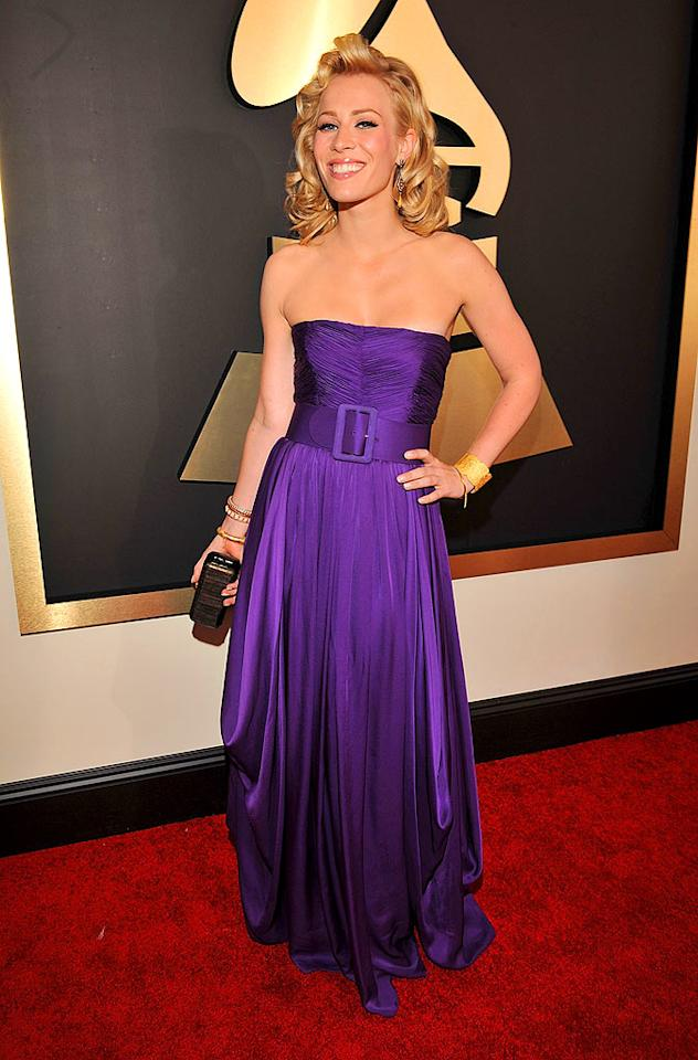 """Love Like This"" singer Natasha Bedingfield has many hits to her name; however, this boring purple gown wasn't one of them. Lester Cohen/<a href=""http://www.wireimage.com"" target=""new"">WireImage.com</a> - February 10, 2008"