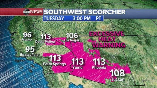 PHOTO: Another scorcher is expected in the Southwest on Tuesday. (ABC News)