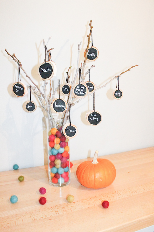 "<p>Encourage your kids to get in the Thanksgiving spirit! This project requires everyone involved to express what they're grateful for this year. </p><p><strong>Get the tutorial at <a href=""http://www.handmadebykelly.com/diy-easy-to-make-thankful-tree/"" rel=""nofollow noopener"" target=""_blank"" data-ylk=""slk:Handmade by Kelly"" class=""link rapid-noclick-resp"">Handmade by Kelly</a>.</strong></p><p><a class=""link rapid-noclick-resp"" href=""https://www.amazon.com/Fuyit-Unfinished-Predrilled-Christmas-Ornaments/dp/B078HB4ZD7/ref=sr_1_4?tag=syn-yahoo-20&ascsubtag=%5Bartid%7C10050.g.22626432%5Bsrc%7Cyahoo-us"" rel=""nofollow noopener"" target=""_blank"" data-ylk=""slk:SHOP SMALL WOOD SLICES"">SHOP SMALL WOOD SLICES</a></p>"