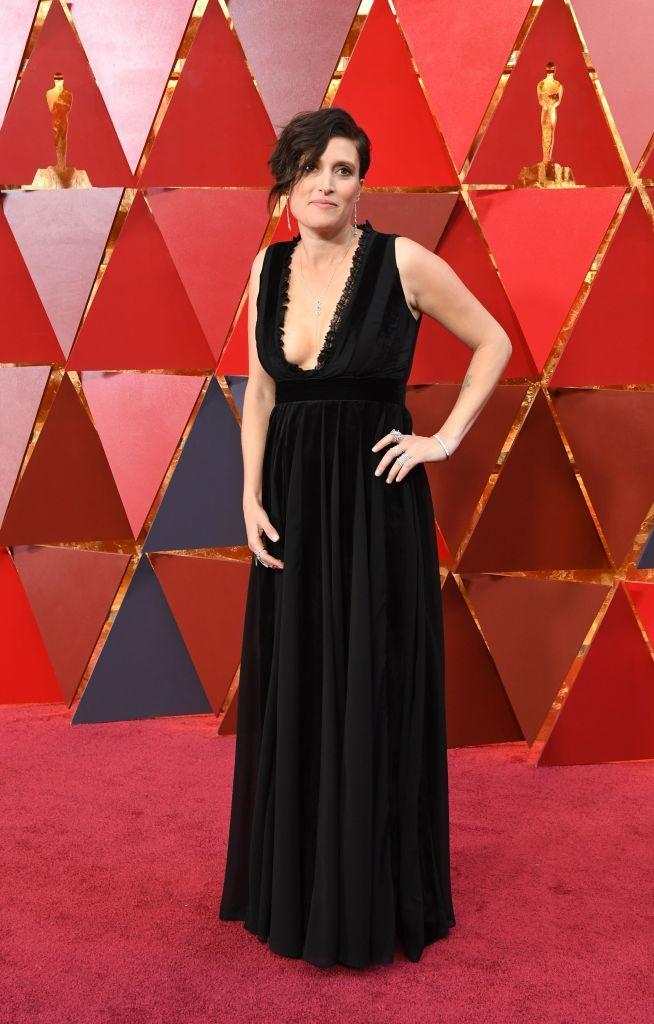<p>Rachel Morrison attends the 90th Academy Awards in Hollywood, Calif., March 4, 2018. (Photo: Steve Granitz/WireImage) </p>