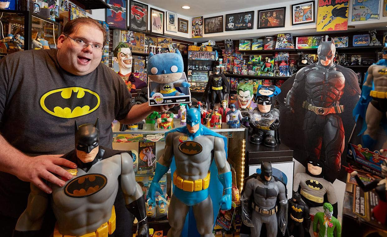 Brad Ladner of Roswell, Georgia, has the world's largest collection of Batman memorabilia: 8,226 different items as of April 2015.