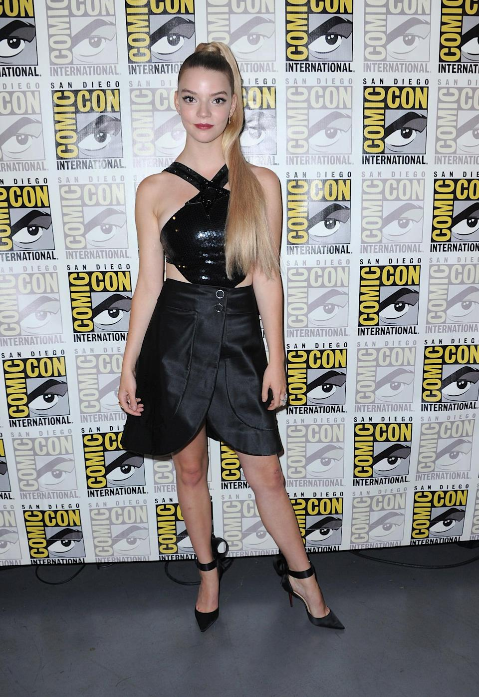 <p>Anya wore Giorgio Armani teamed with Christian Louboutin heels, styled by Ozzy Shah. </p>