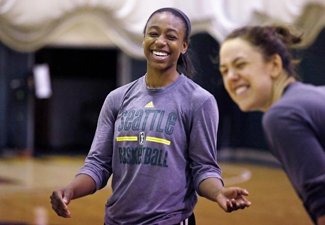 WNBA teams beat all-male practice squads all the time. (AP Photo/Elaine Thompson)