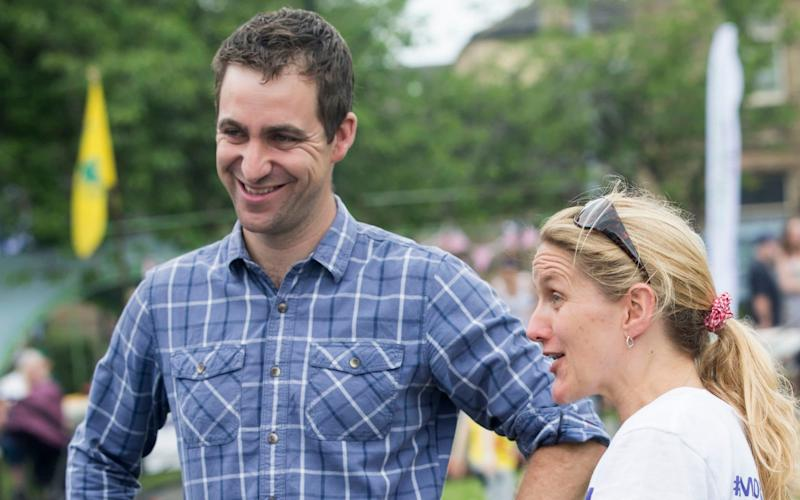 Widower Brendan Cox and sister Kim Leadbeater of murdered MP Jo Cox, attend a Great Get Together event marking the anniversary of Mrs Cox's death - PA